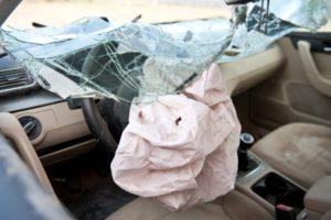 Airbag in car crash