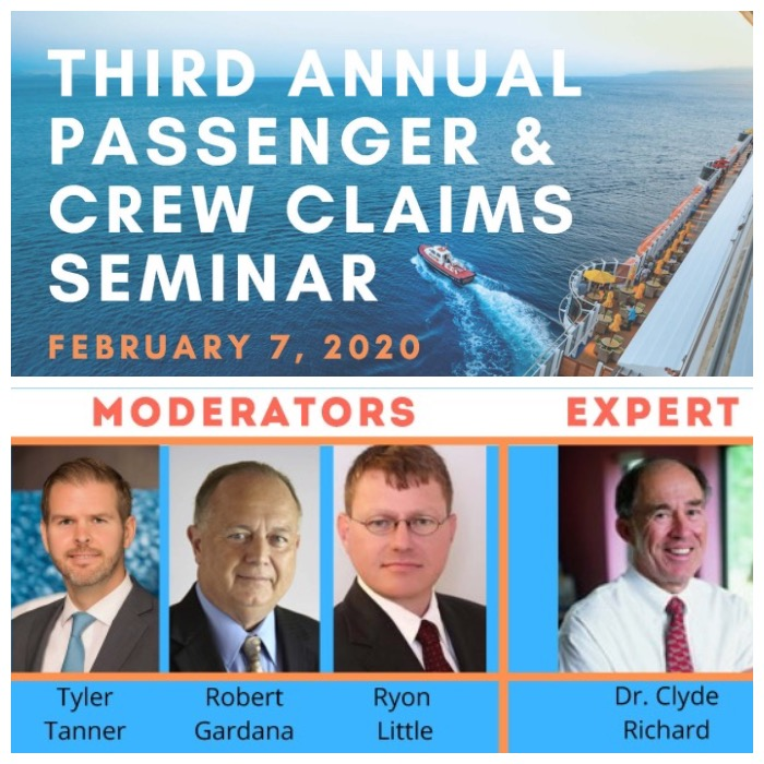 CED's Clyde Richard, P.E. Featured As The Marine Expert At The 3rd Annual Passenger & Crew Claim Seminar